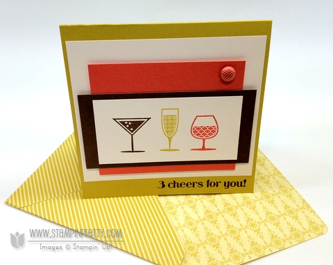 Stampin up happy hour demonstrator blog card ideas simply scored diagonal plate make envelope