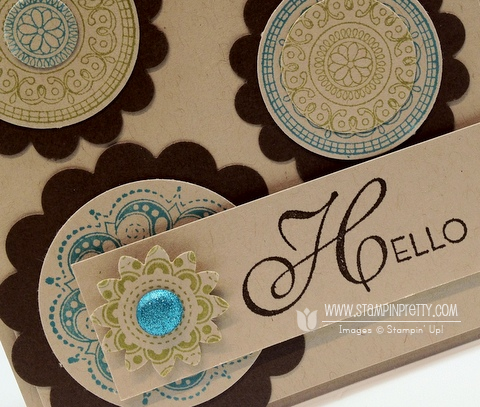 Stampin up demonstrator order online catalog circle punch blog card idea boho blossom
