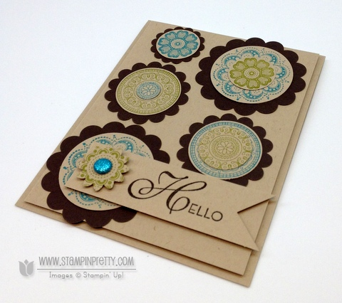 Stampin up demonstrator order online catalog circle punch blog card idea boho blossoms
