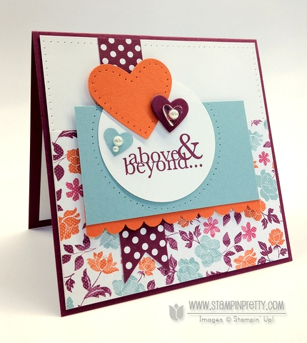 Stampin up demonstrator order online catalog mojo monday punch paper piercing blog card idea