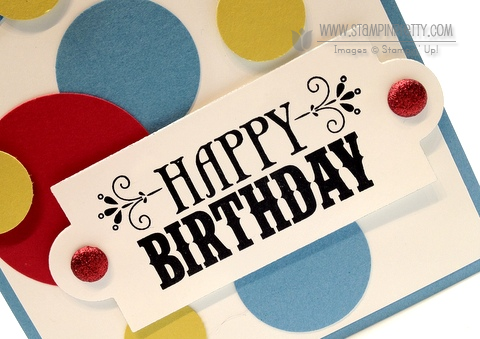 Stampin up demonstrator blog order online circle punch birthday card idea masculine catalogs