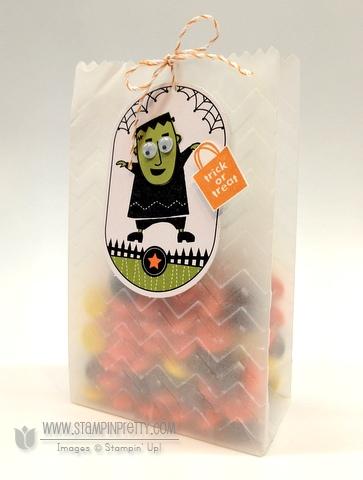 Stampin up demonstrator blog video tutorial halloween ghoulish googlies treat bags