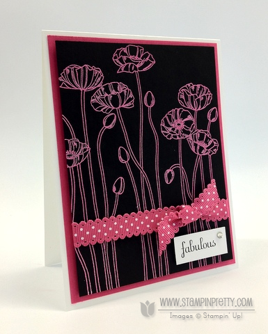 Stampin up demonstrator blog order online pleasant poppies heat embossing catalogs