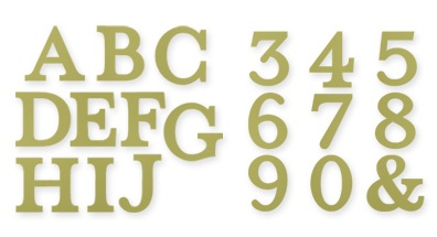 Dies typeset alphabet bigz stampin up stampinup big shot