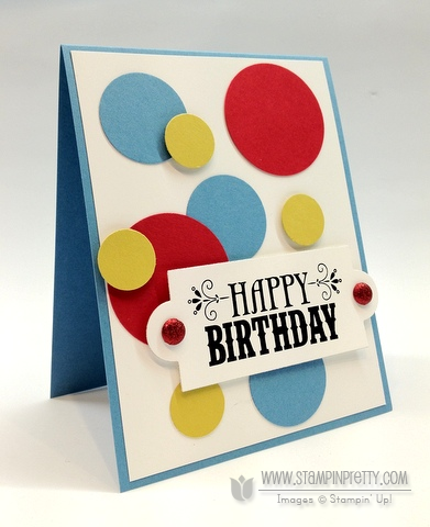 Ppa140 Masculine Birthday Card Stampin Pretty