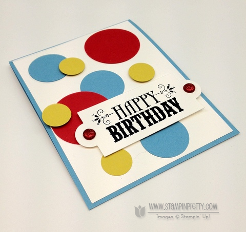 Stampin up demonstrator blog order online circle punch birthday card idea masculine catalog