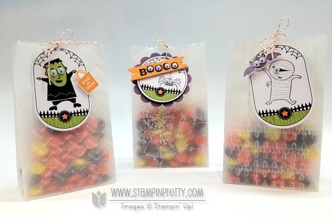 Stampin up demonstrator blogs video tutorial halloween ghoulish googlies big shot treat bag