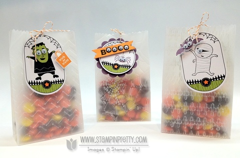 Stampin up demonstrator blogs video tutorial halloween ghoulish googlies big shot treat bag