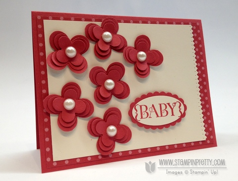 Stampin up demonstrator order online blog punch baby card big shot one in a million rubber stamping