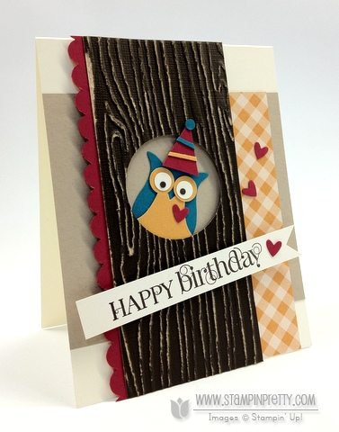 Stampin up stampinup stamp it card ideas owl punch birthday catalog demonstrator