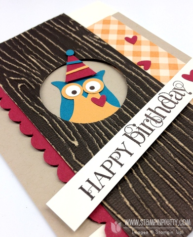 Stampin up stampinup stamp it card idea owl punch birthday demonstrator catalog