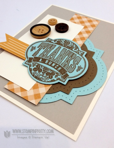 Stampin up stampinup stamp it card idea blog punch big shot framelilts masculine thank you
