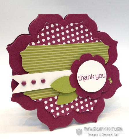 Stampin up stampinup stamp card idea floral frames framelits dies mojo monday punches