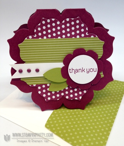 Stampin up stampinup stamp card idea floral frames framelits dies mojo monday punch demonstrators