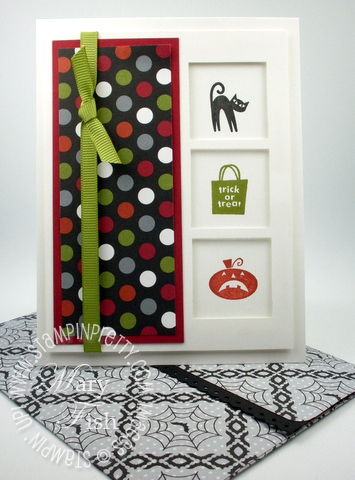 Stampin up halloween card blog frightful sight idea square punch