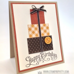 Stampin' Up! Perfectly Penned Happy Birthday Card