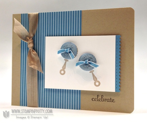 stampin up baby card for two little guys stampin pretty