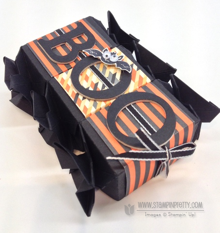 Stampin up stampinup punch halloween card idea candy wrapper die big shot treat catalog