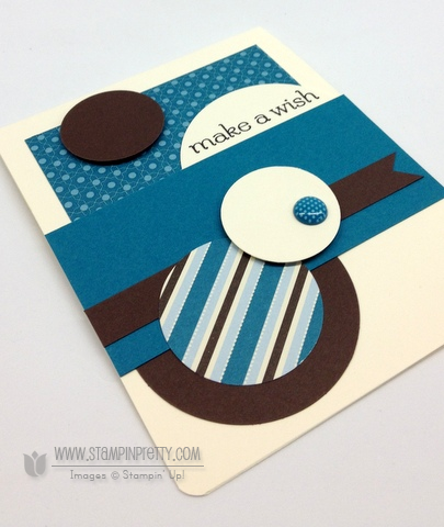 Stampin Up Stampinup Card Idea Birthday Boy Masculine Circle Punches Mojo Monday