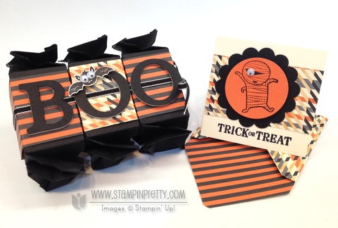 Stampin up stampinup punch halloween card idea candy wrapper die big shot treats catalogs