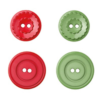 Stampin up holly berry buttons