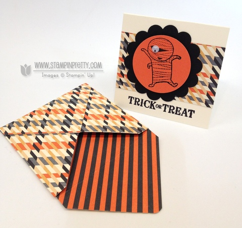 Stampin up stampinup punch halloween card ideas candy wrapper die big shot treats catalog
