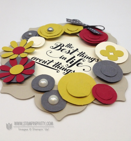 Stampin up stampinup stamp it demonstrator floral frames framelits card wreath ideas holiday catalog