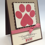 A Stampin' Up! Paw Print For Ginger