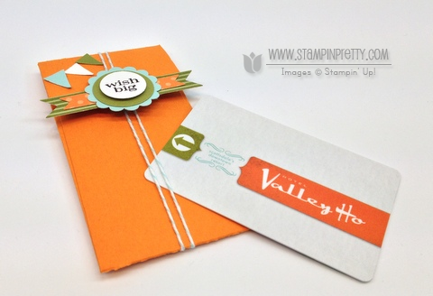Stampin up stampinup stamp it big shot petite pocket biz die holiday catalog gift card idea pennant punch