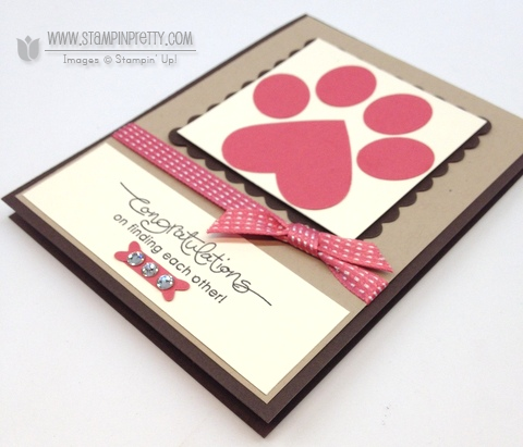Stampin up stampinup stamp it catalog punch dog paw prints card ideas demonstrators