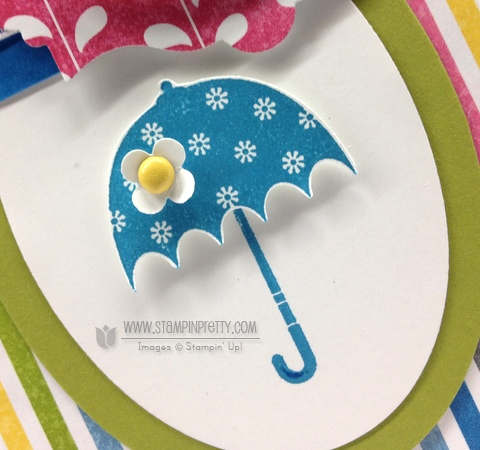 Stampin up stampinup pretty order stamp it butterfly punch spring catalog baby shower card idea rain or shine