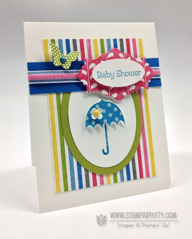 Stampin up stampinup pretty order stamp it butterfly punch spring catalogs baby shower card idea rain or shine