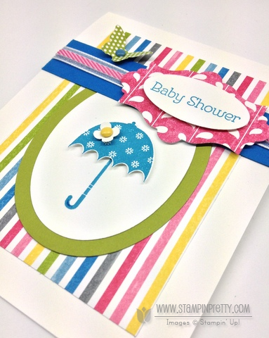Stampin up stampinup pretty order stamp it butterfly punch spring catalog baby shower card idea