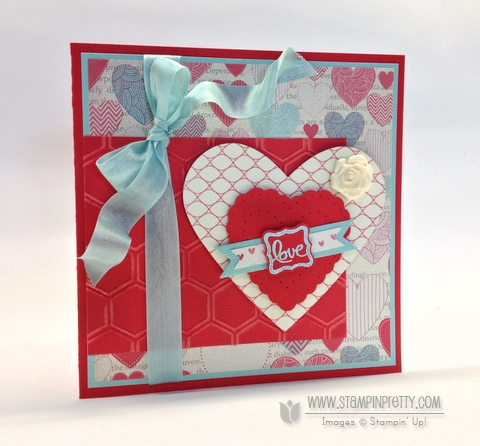 Stampin up stampinup stamp it pretty valentine card idea spring catalog hearts a flutter framelits