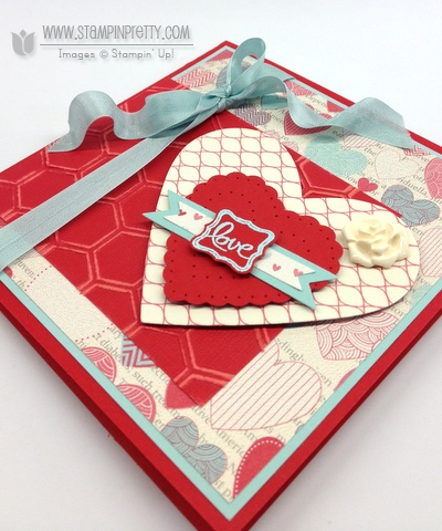 Stampin up stampinup stamp it pretty valentine card idea spring catalogs heart a flutter framelit