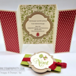 Stampin' Up! Z-Fold Holiday Gift Certificate