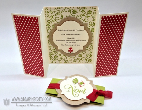 Stampin up stampinup stamp it punch catalog holiday gift card certificate big shot window frames framelits dies
