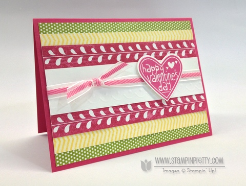 Stampin up stampinup stamp it pretty order spring catalog heart punch valentine card idea
