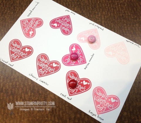 Stampin up stampinup pretty order valentine treat bundle candy catalogs heart punch
