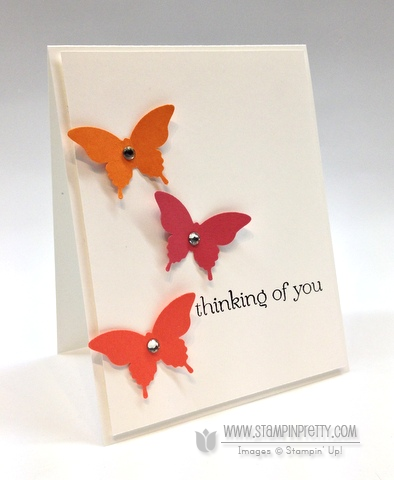 Stampin up pretty stampinup stamp it butterfly punch tutorial demonstrator card ideas catalog