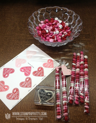 Stampin up stampinup pretty order valentine treat bundle candy catalog hearts punch
