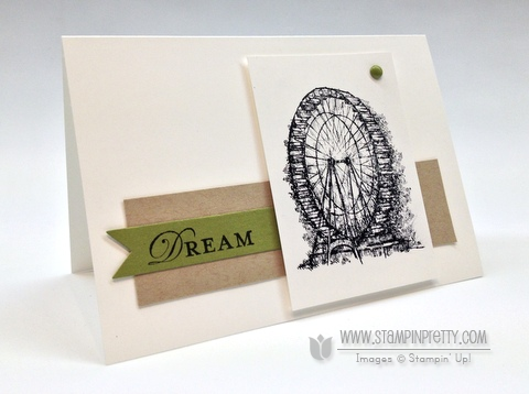 Stampin up stampinup order saleabration catalog card idea feeling sentimental