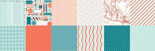 Designer series paper sent with love