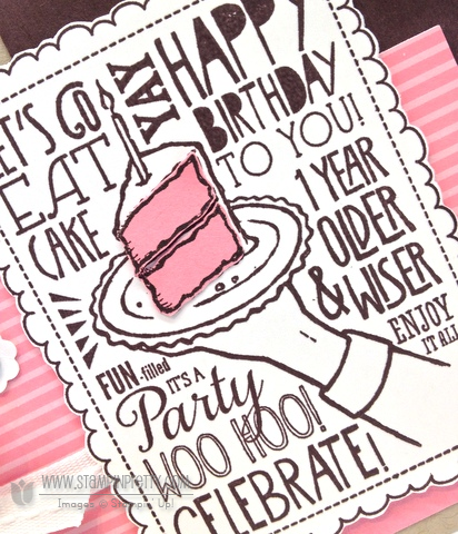 Stampin up stampinup order pretty woo hoo birthday cake punch catalog card idea