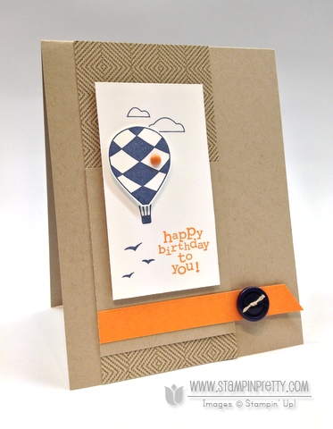 Stampin up stampinup stamp it pretty masculine birthday cards ideas up up & away catalog punch
