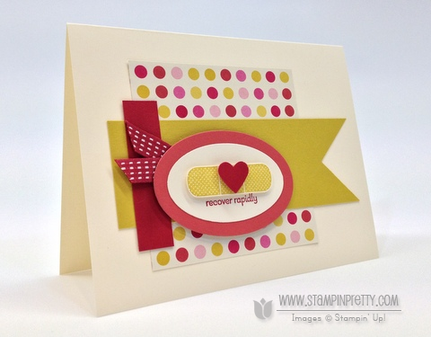 Stampin up stampinup stampin up oval punch framelits get well card idea patterned occasions saleabration