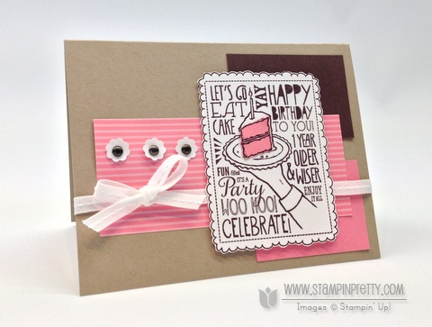Stampin up stampinup order pretty woo hoo birthday cake punch catalog card ideas