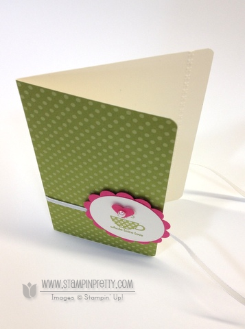 Stampin up stampinup orders pretty saleabration patterned occasions card idea catalog punch