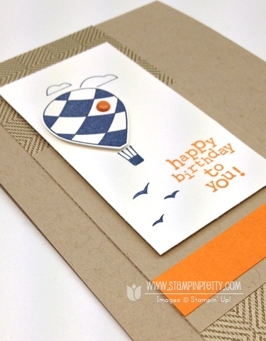 Stampin up stampinup stamp it pretty masculine birthday card ideas up up & away catalog punch