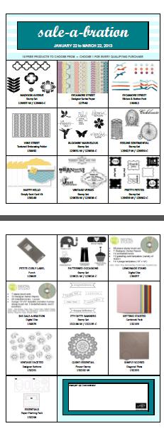 Stampin up saleabration images brochures
